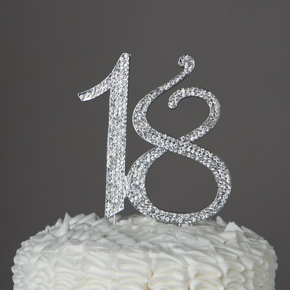 Th Birthday Cake Topper Silver