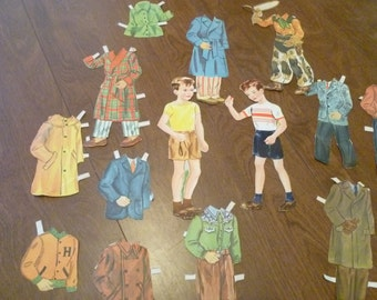 1950 boy Paper with Clothes