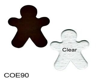Bullseye COE 90 GINGERBREAD MAN Fusible Glass Precut Choice Fusing Supplies