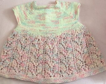 12 Month Knit Lace Baby Girl's Dress