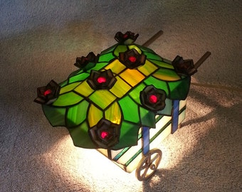 Nightlight - Stained Glass Flower Cart - Accent Lamp