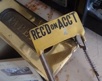Vintage Recd on Acct Cash Register sign