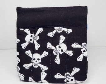 Snap Bag  Gift Card Holder Skull Fabric Credit Card Holder