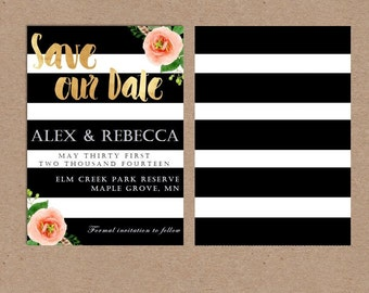 Save the Date Gold Printable