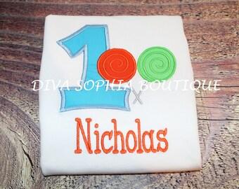 Personalized Lollipop Birthday T-shirt