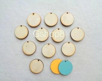 Unfinished wood Geometric Pendants,10 Wood Circle Tile for Jewelry, Geometric Jewelry