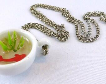 Necklace, Resin, fish, goldfish, Teatime