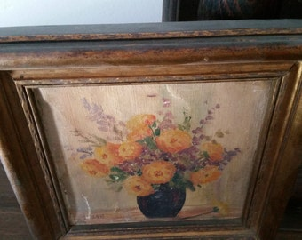 Framed Floral Painting