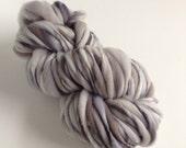 Handspun Thick and Thin Merino Yarn - 50 yds Dappled