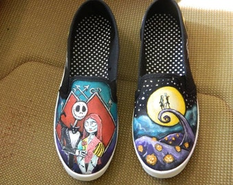 NIGHTMARE BEFORE CHRISTMAS Hand Painted Shoes Custom Made