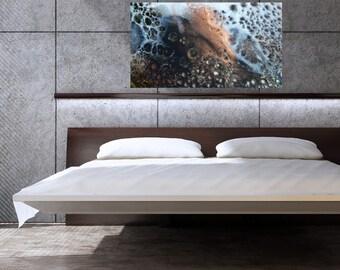 "Resin Art CANVAS PRINT - 100cm x 50cm - Abstract Fine Detail Art - ""Tempest"""