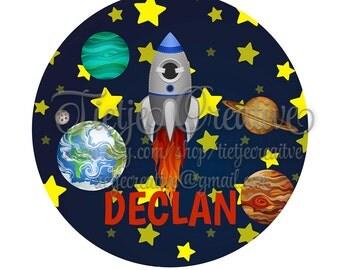 Heat Transfer Design, Deep Space, Astronaut, Rocket, Planets