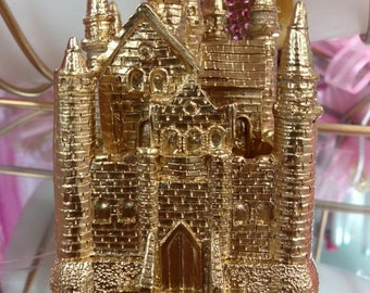 Gold Castle Party Favor Cake Decoration Keepsake