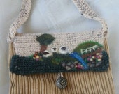 Small purse, needle felted , wet felted , perfect gift