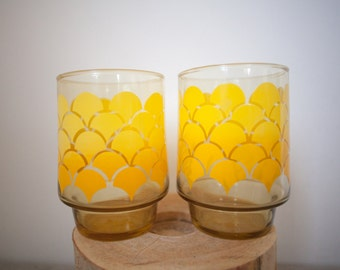 RETRO Drinking CUPS Vintage MOD Drinkware 70s Glassware drinking cups