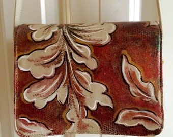 Hand Painted Purse- Warm Copper