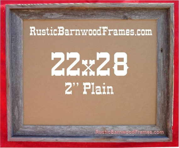 "22x28 2"" Plain Rustic Barn Wood Aged Weathered Reclaimed"