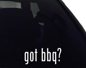 got bbq? Vinyl Decal - Car Window Bumper Laptop - Decal Vinyl Sticker
