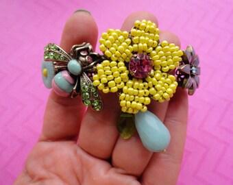 Bumblebee  flower garden bracelet