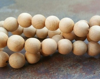 Sandalwood Beads,8mm beads, Mala Beads, qty. 50pcs