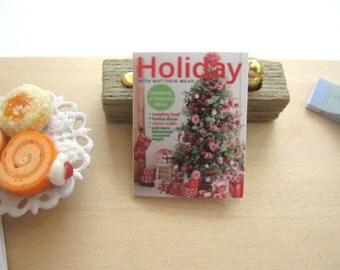 dollhouse christmas holiday  magazine 12th scale miniature