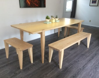 Oslo Dining Table and Bench Set