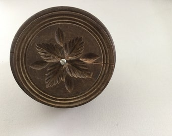 Vintage Antique Wooden Butter Mold-Butter Stamp- Free Shipping
