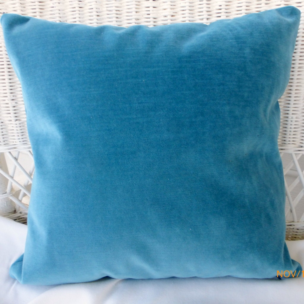 Velvet Decorative Pillow Covers : Blue Velvet pillow cover Decorative Pillow Covers velvet