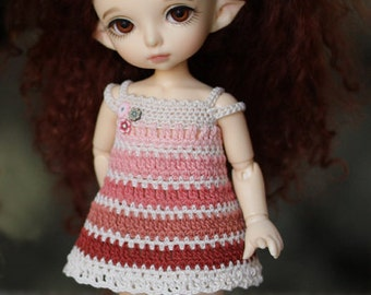 Creamy-pink-brown dress for pukifee and lati yellow