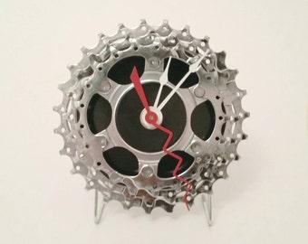 "Bicycle Gear Clock - Black - 4"""