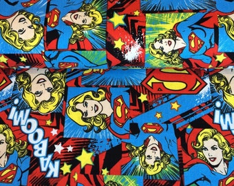 Camelot Cottons. Girl Power II.Supper Girl  - Cotton Fabric - Sold by the meter