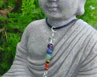 7 Chakra Om Pendant, Gemstones, Balance, Harmonize Reiki Jewelry,  Jewellery, Spiritual, Healing Jewelry, Gift Idea