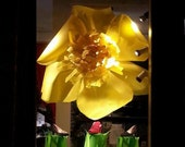 Big Yellow Paper Flower - Free Shipping in US