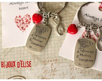 Sale - Mother and Daughter Keychain Friendship Keychain