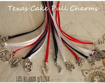 12 pcs Western Texan Wedding Cake Pull Charms (CP05)