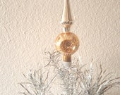 Vintage Christmas Tree Topper Shiny Brite Midcentury Glass Decor