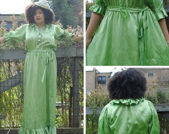 Green Ruffle Maxi Dress