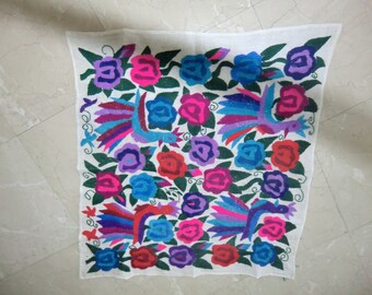 "Square 30"" table cloth, guatemalan, native , handmade embroidery"