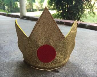 Princess Peach inspired crown