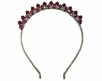 Pink rhinestone headband