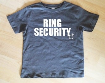 RING Security Shirt Bridal Party Shirt Charcoal Gray Shirt  Wedding Party Shirt Wedding Party Gift Ring Security Shirt Ring Bearer