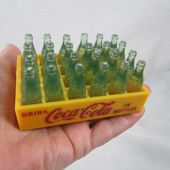 Miniature Toy Coca Cola Coke 24 Bottle Case Crate Vintage 50s