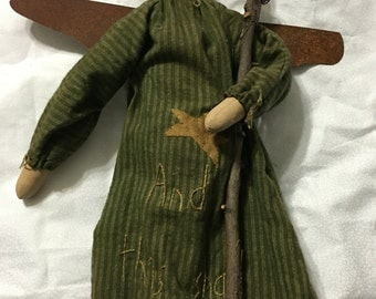 Primitive Country Angel Doll Handmade