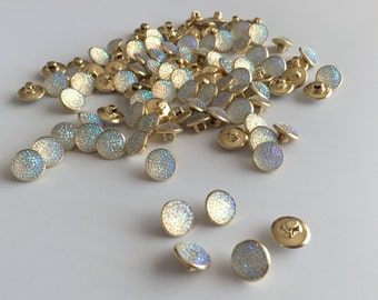 Small Gold Backed Rhinestone Button Fastener - sold individually
