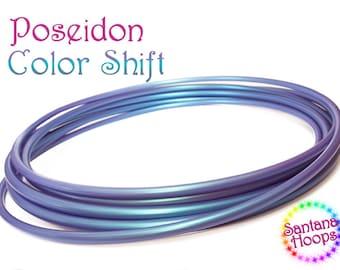 "3/4"" Poseidon Color Shift Polypro Hula Hoop Button collapse"