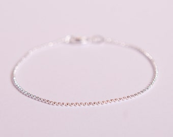 Pretty Bracelet Silver Ball Chain Beads Chain Plated  Silver Plated Ballchain