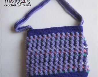 Crochet Pattern - Purple Sherbert Bobbles Purse