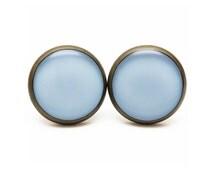 Placid Blue Stud Earrings Light Blue Jewelry Spring Color 2014 Placid Blue Color Pastel Earrings Sky Pale Blue Pantone Spring Stud Earrings