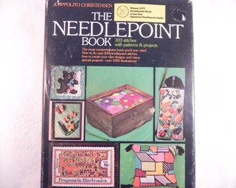 Vintage Neddlepoint Book The Neddlepoint Book with 303 Stitches with Patterns