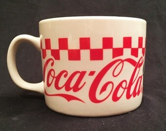 Coca Cola wide ceramic mug